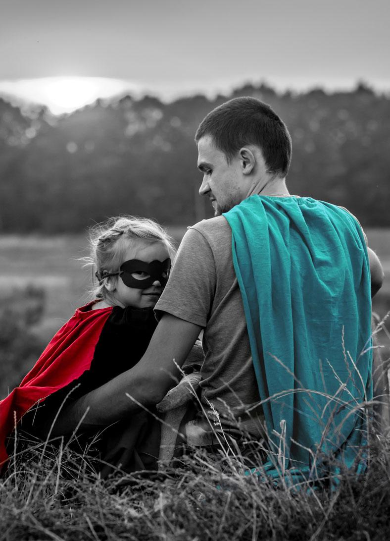 Super héros cape couleurs